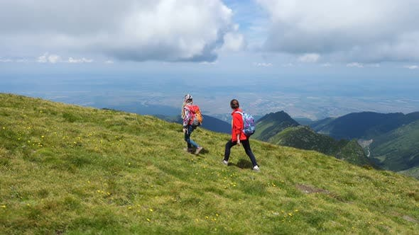 Thumbnail for Children Hiking At The Mountains 4