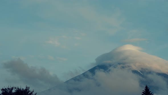 Thumbnail for Clouds Covered On Mountain Peak