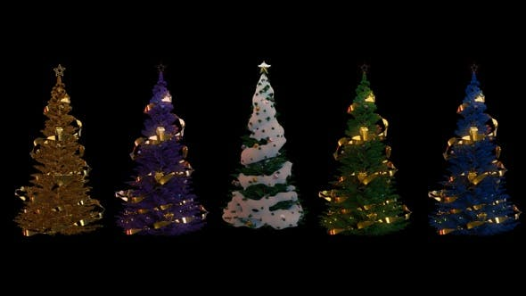 Thumbnail for Christmas Trees Seamless Loop