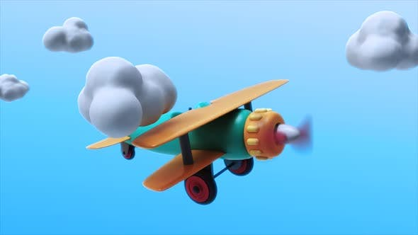 Thumbnail for Toy Plane Flying 02 Loop