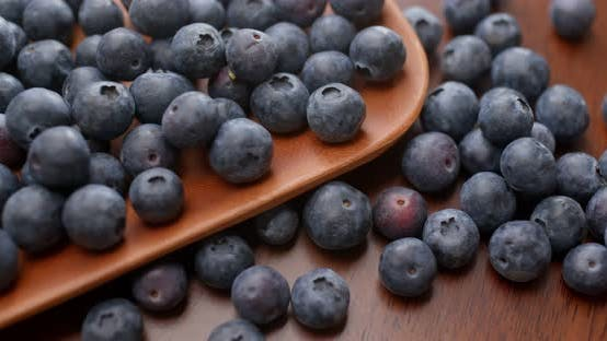 Thumbnail for Heap of Blueberry on Wooden Plate