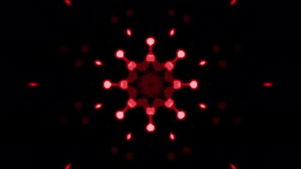 Blurred Red Fractal Light Bokeh Loop 02