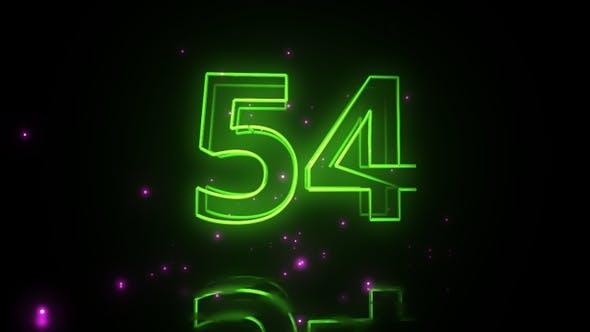 Neon Countdown 1 Minute