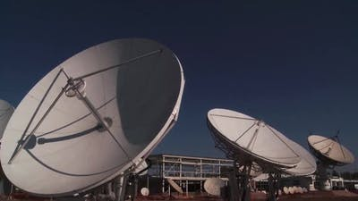 TV Station Satellite Dishes.