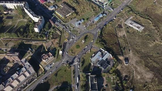 Highway Die Stadt zu betreten. Stadt-Panorama