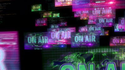 On Air broadcast on screens
