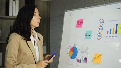 Business woman analyze