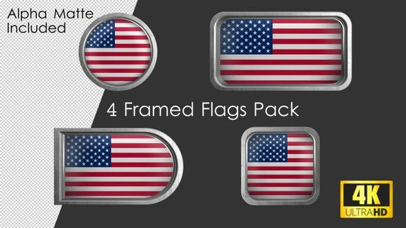 Thumbnail for Framed USA Flag Pack