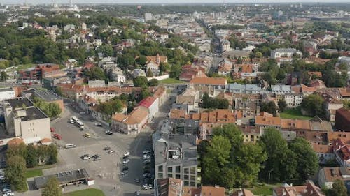 Kaunas City Old Town With Orange Rooftops, Lithuania