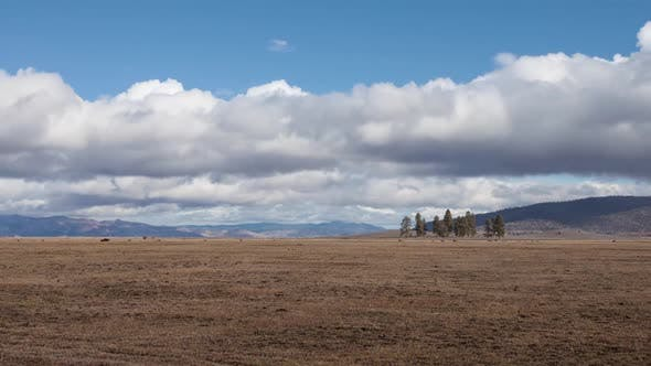 Thumbnail for Pasture With Mountains In The Background Time Lapse