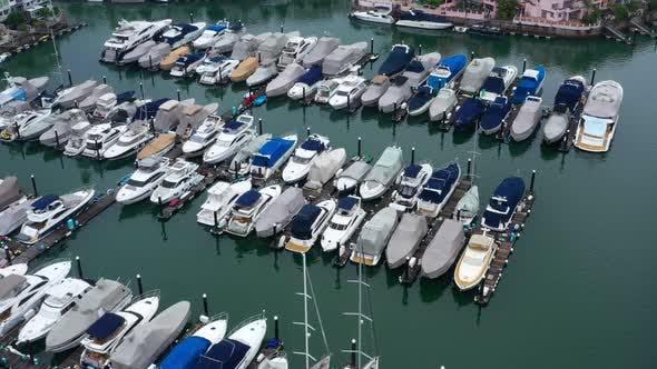 Top view of Hong Kong yacht club