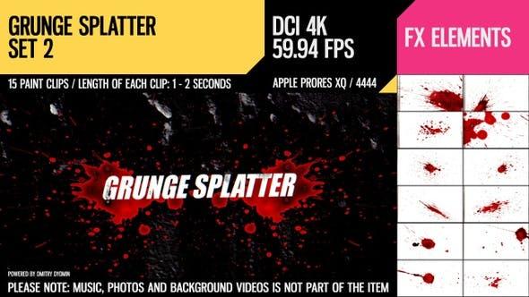 Thumbnail for Grunge Splatter (4K Set 2)