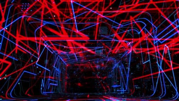 Thumbnail for Laser Netzwerk Tunnel Licht 05 HD