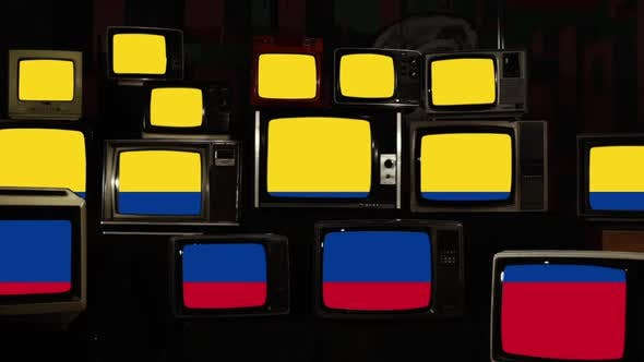 Thumbnail for Flag of Colombia and Retro TVs.