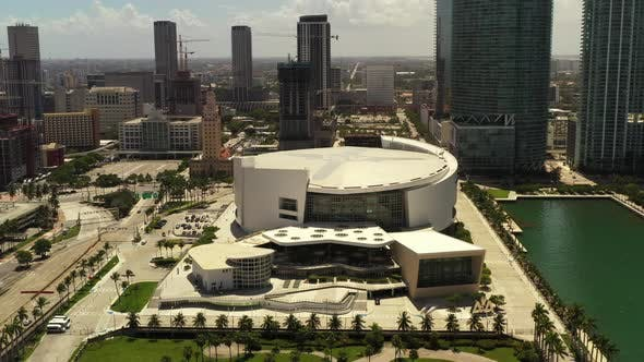 Thumbnail for Aerial Clip Downtown Miami American Airlines Arena