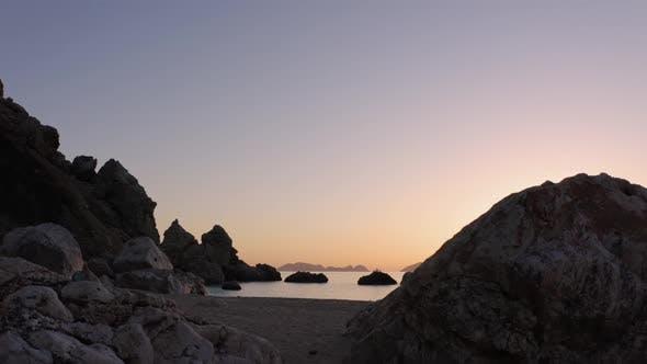 Sunset Over Ocean Gulf