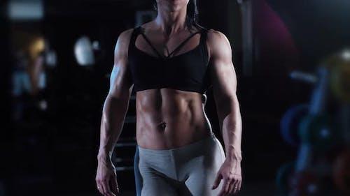 Athletic Musculus Frau
