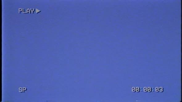 VHS HUD Blue light on the CRT