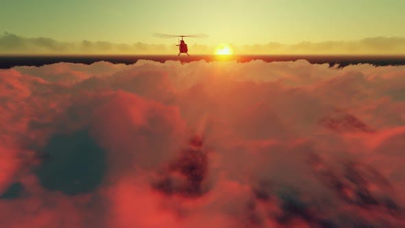 Thumbnail for Helicopter Coming Up On High Clouds