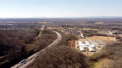 Aerial Video Tennessee Ooltewah By Highway 74