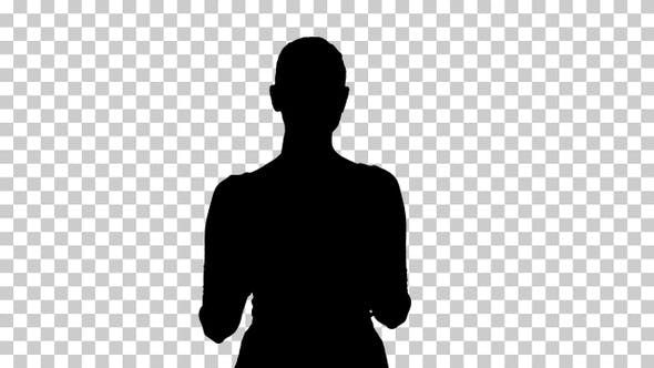 Thumbnail for Silhouette Businesswoman walking, Alpha Channel