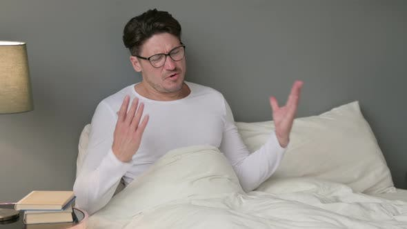 Thumbnail for Worried Middle Aged Man in Bed Feeling Upset, Distress