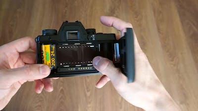 Loading Film Into SLR Film Camera