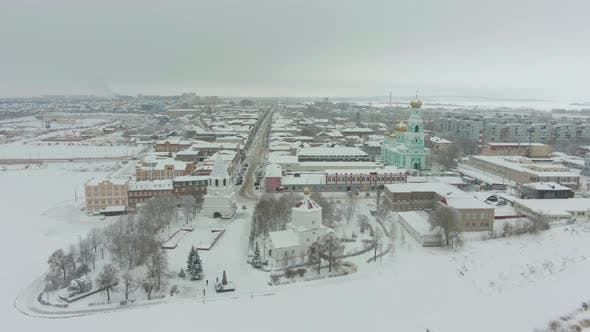 Thumbnail for Syzran City in Winter. Russia. Aerial View