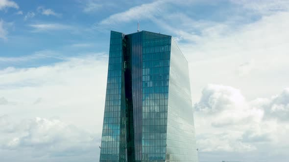 Thumbnail for Aerial, Orbiting the European Central Bank in Frankfurt, Germany