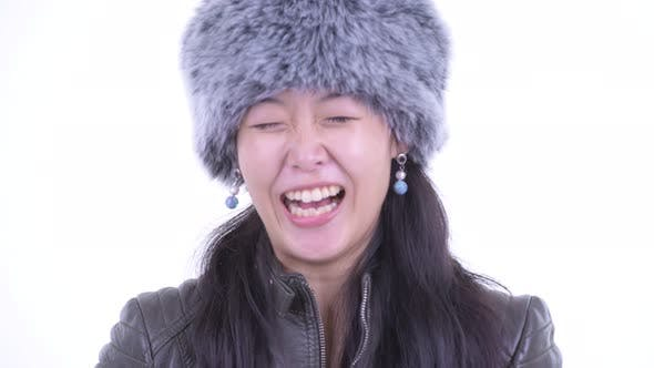 Thumbnail for Face of Happy Beautiful Asian Woman Smiling and Laughing