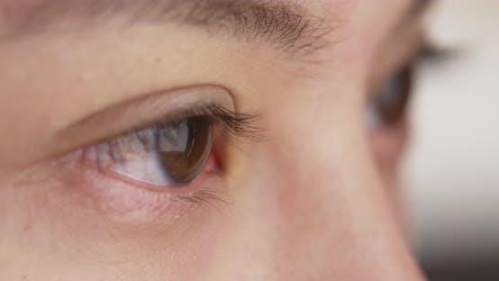 Thumbnail for Closeup of Asian woman's eyes