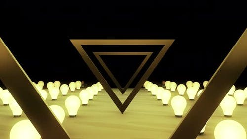 Triangle Light Bulb Bg 4k
