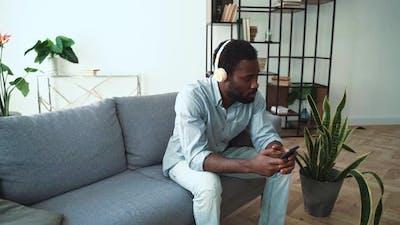 African american man playing music