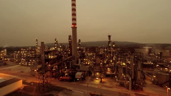 Petrochemical Industry Plant Producing Energy