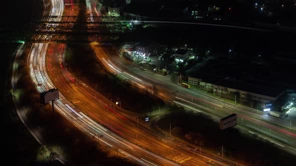 Thumbnail for Aerial Korea Illumination Seoul Central Road
