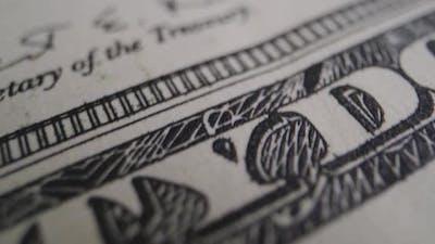 Extreme Close-up Dollar Banknotes
