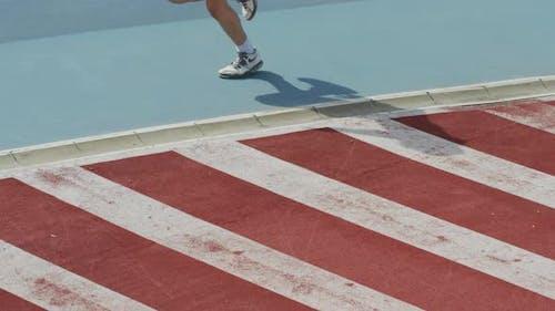 Legs on a sprinter