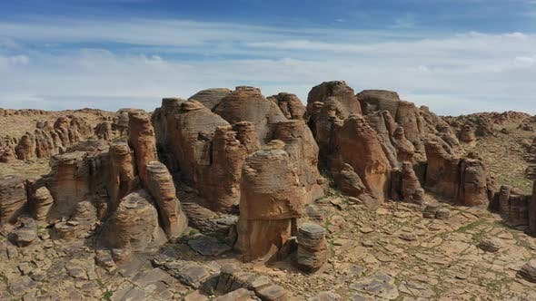 Cover Image for Rock Formations in Gobi Desert Mongolia