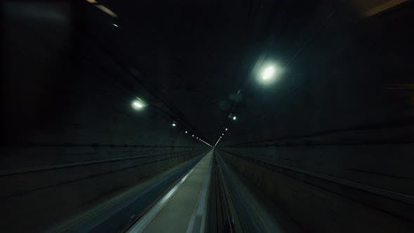 Thumbnail for Subway Train Running Through the Tunnel