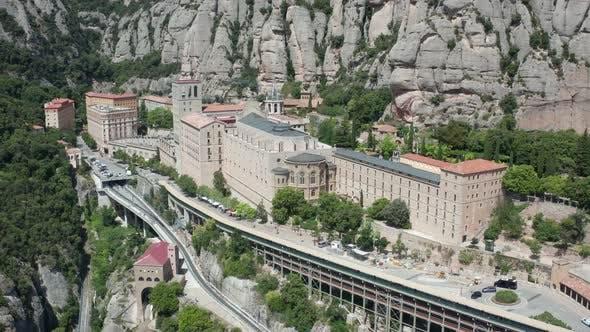 Thumbnail for Drone Flight Over Benedictine Abbey on Montserrat