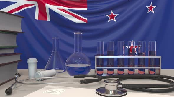 Thumbnail for Clinic Laboratory Equipment Against Flag of New Zealand