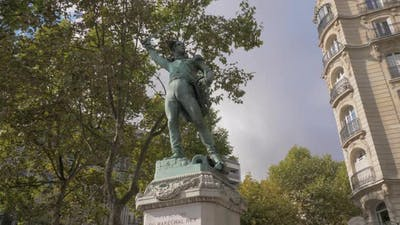 Michel Ney statue in Paris, France