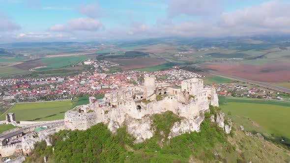 Thumbnail for Aerial Drone View on Spis Castle, Slovakia, Ancient Castle, Spissky Hrad
