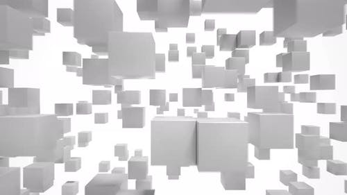 Abstract background with cubes, Loop able animation