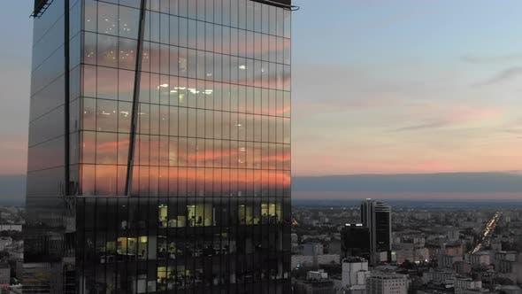 Thumbnail for Warsaw Aerial At Sunset