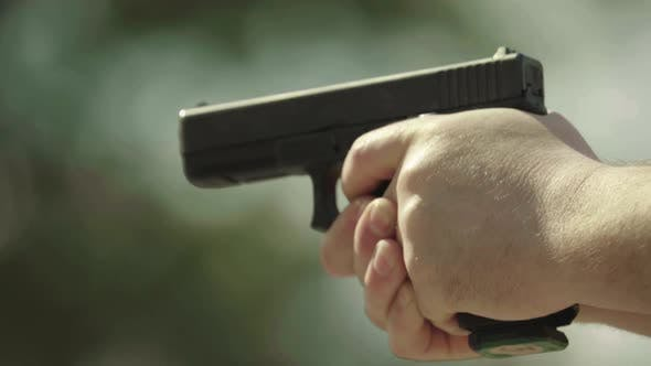 Thumbnail for Close-up Shot of a Pistol