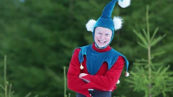 Thumbnail for Christmas elf laughing
