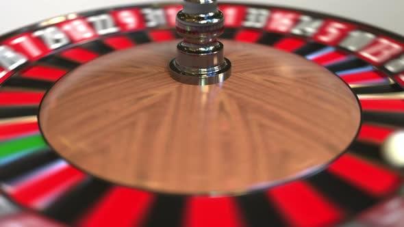 Thumbnail for Casino Roulette Wheel Ball Hits 27 Twenty-seven Red