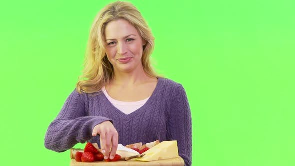 Thumbnail for Woman with a platter of food