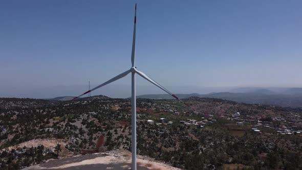 Wind Turbine Aerial View